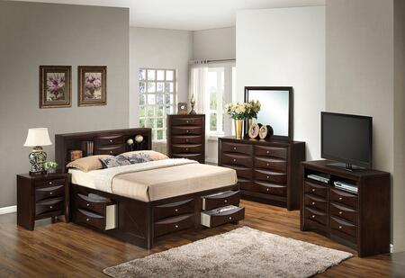 Glory Furniture G1525GQSB3DMNCHTV2 G1525 Queen Bedroom Sets