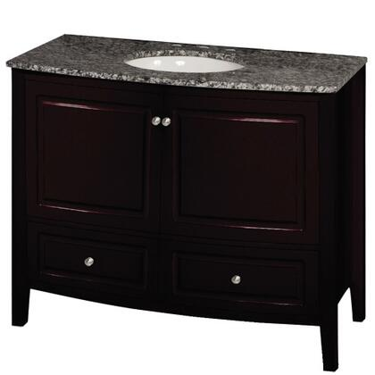 "Yosemite YVEC-056 35.5"" Freestanding Wood Vanity with Black and White Marble Top, Single White Ceramic Oval Shaped Undermount Sink, 2 cabinets and 2 drawers"