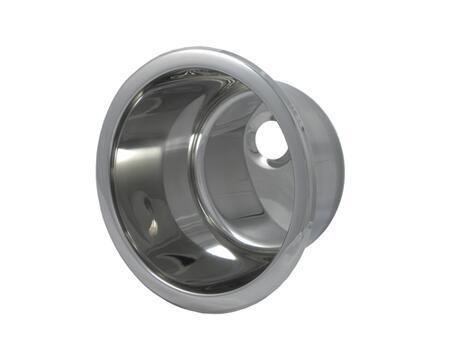 "Opella 14107.T 11.4"" Diameter Drop-In Round Bar Sink, 2-1/2"" Drain Opening, 18 Gauge:"