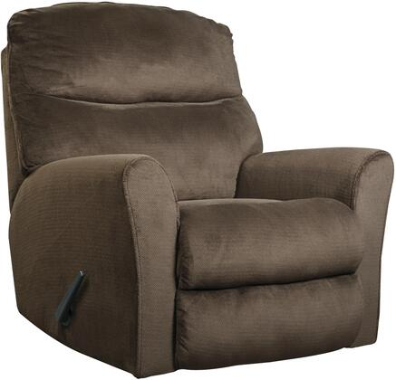 "Milo Italia MI-1355TMP Jameson 37"" Rocker Recliner with Split Back Cushion, Rolled Arms, Metal Frame and Fabric Upholstery in"