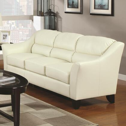 Coaster 504131 Brooklyn Series Stationary Bonded Leather Sofa