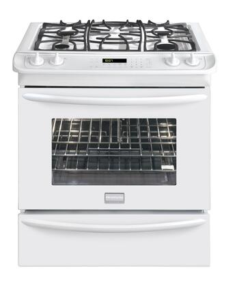 "Frigidaire FGGS3065KW 30"" Gallery Series Slide-in Gas Range with Sealed Burner Cooktop Warming 4.2 cu. ft. Primary Oven Capacity"