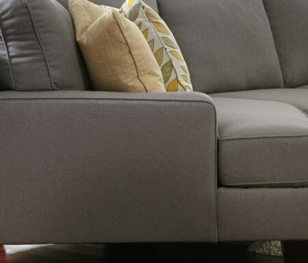 Signature Design by Ashley Chamberly 24302-7X-5X 2-Piece Sectional Sofa with X Arm Facing Cuddler, X Arm Facing Loveseat and Pillows Included in Alloy Color