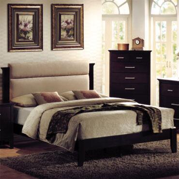 Yuan Tai RE7800 Reagan Bed in Espresso Finish
