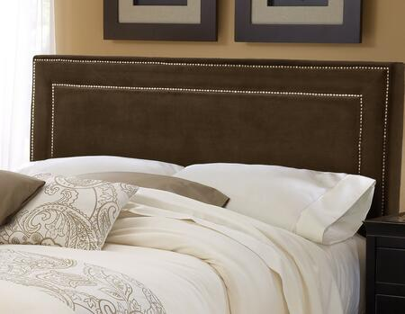 Hillsdale Furniture 570 Amber Queen Headboard with Rail Included, Nail Head Trim, Pine Wood Construction and Fabric Upholstery in