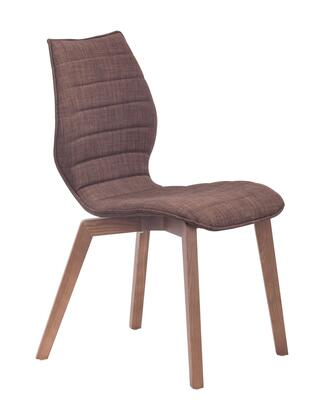 "Zuo 10005 Aalborg 34"" Dining Chair with Tapered Legs and Polyblend Upholstery"