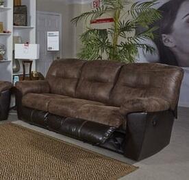 Signature Design by Ashley 6520288 Follett Series Reclining Fabric Sofa