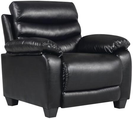 Glory Furniture G561C Faux Leather Armchair in Black