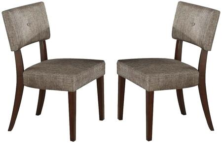 Acme Furniture 16252 Drake Series Fabric Wood Frame Dining Room Chair