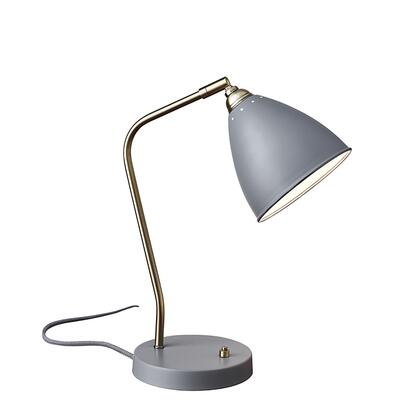 Adesso 34630 Chelsea Desk Lamp, Painted Brass Finish