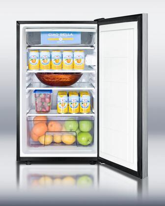 """AccuCold CM421BLXBISSHH0 20"""" CM421BLBI Series Medical Compact Refrigerator with 4.1 cu. ft. Capacity, Manual Defrost, Adjustable Glass Shelves and Adjustable Thermostat: Stainless Steel"""